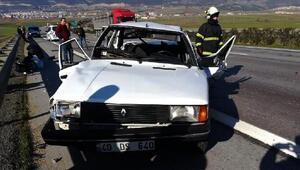 Nurdağı'nda zincirleme kaza: 1 yaralı