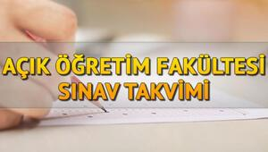 AÖF güz dönemi final sınavları ne zaman AÖF sınav giriş belgesi sorgulama ekranı