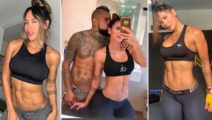 Transfer yuva yıktı Vidal ve fitness modeli sevgilisi Sonia Isaza...