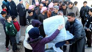 İHH'dan Suriyedeki bin 300 aileye kışlık yardım
