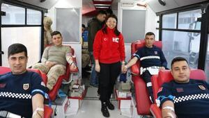 Kilis'te jandarmadan kan bağışı