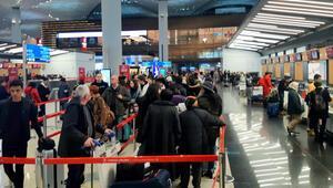 İstanbul Havalimanında yarıyıl tatili hareketliliği