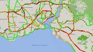 Son dakika... İstanbul kilitlendi Trafik yoğunluğu yüzde 80i geçti