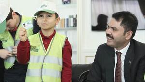 Bakan Kurum, çevre dostu Ahmet ve arkadaşlarıyla görüştü