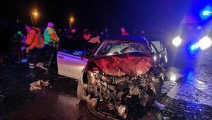 Edirne'de otomobiller çarpıştı: 3 ölü, 2 yaralı