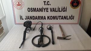 Düziçinde kaçak kazı operasyonu: 1 gözaltı