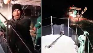 Ege Denizinde yasak avlanan balıkçıların teknesi kovalamacayla durduruldu