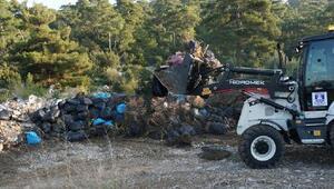 Bodrumda doğaya atılan 65 ton atık toplandı
