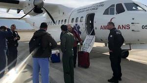 THK ambulans uçağıyla Kıbrıstan Ispartaya karaciğer grefti