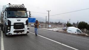 Yeşilovada kaza: 1 yaralı