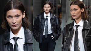 Bella Hadid Paris Moda Haftasında Erkek Defilesinde Podyuma Çıktı