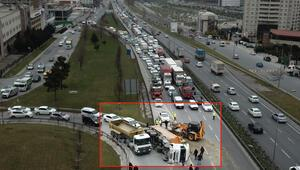 Son dakika haberi: TEMde kaza Trafik kilit