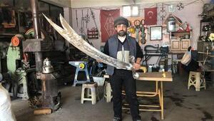 Demirci ustası, Zülfikar kılıç yaptı