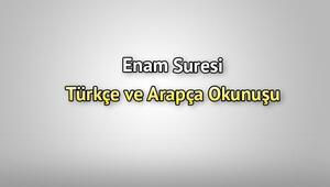 Enam Suresi Oku - Enâm Suresi Anlamı, Tefsiri, Türkçe ve Arapça Okunuşu (Diyanet Meali)