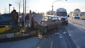 Hendekte kaza: 4 yaralı