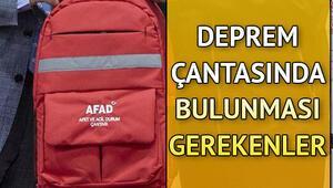 Deprem çantası nasıl hazırlanır İşte AFAD bilgisine göre deprem çantasında olması gereken eşyalar