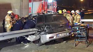 Ataşehirde korkunç kaza... 14 yaşındaki çocuk bacağından oldu