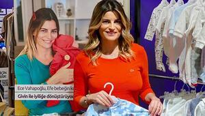 Ece Vahapoğlu: Bebeğinin kıyafetlerini satıyor