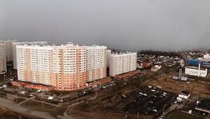 Rusyada kar fırtınası görüntülendi