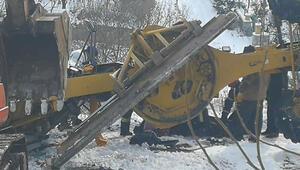 Karla mücadele çalışmasında feci kaza Muhtar hayatını kaybetti...