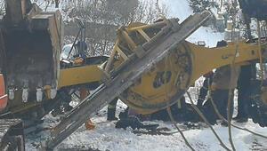 Karla mücadele çalışmasında feci kaza
