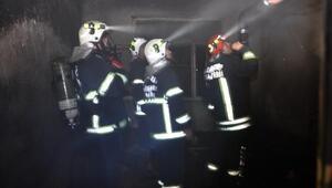İslahiye'de ev yangını