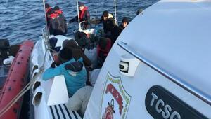 Enez açıklarında 35 kaçak göçmen yakalandı