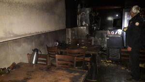 Orhanelide pide dükkanında yangın