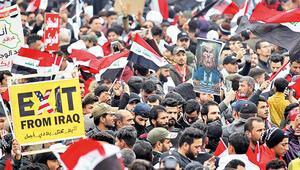 Bağdat'ta yüz binler sokakta 'ABD askerleri gitsin' gösterisi