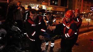 İşçi servisi ile cip çarpıştı: 6 yaralı