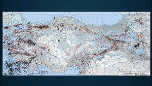 Türkiyede meydana gelen büyük depremler...