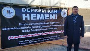 Burdurda, Elazığ için yardım kampanyası
