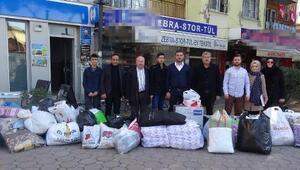 İncirliovadan depremzedeler için yardım