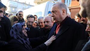 Cumhurbaşkanı Erdoğan, deprem bölgesinde incelemede bulundu