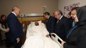 Cumhurbaşkanı Erdoğan, hastanede yaralıları ziyaret etti