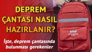 Deprem çantasında neler olmalı Deprem çantasında olması gereken malzemeler listesi