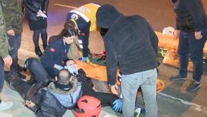 Şişlide otomobil motosiklete çarptı: 1i kadın, 2 yaralı