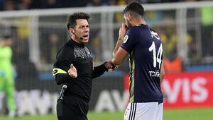 Fenerbahçe-Başakşehir maçında Fırat Aydınus penaltı kararı verdi, Tolga Ciğerci hayır dedi