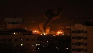 İsrail hava saldırılarıyla Gazzeyi vurdu