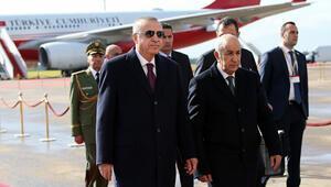Cumhurbaşkanı Erdoğan Cezayire geldi