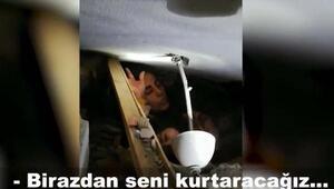 Kızı Yüşra ile enkaz altında kalan annenin asker ile konuşması ortaya çıktı