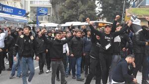 Beşiktaşlıtaraftarlararasında arbede çıktı