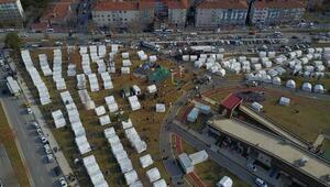Elazığa depremzedeler için 10 binden fazla çadır gönderildi