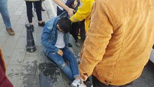 Taksimde alkol komasına girdiği iddia edilen genç hastaneye kaldırıldı