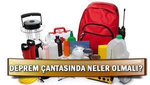 Deprem çantasında neler olmalı, nasıl hazırlanır İşte, AFADın örnek deprem çantasında olması gereken malzemeler