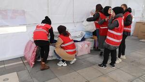 Amasyadan depremzedelere yardım