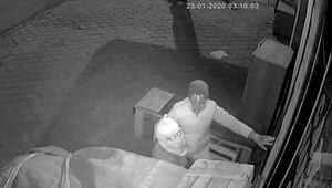 Hırsızlar güvenlik kameralarına yakalandı