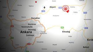 Son dakika haberler: Ankarada 3.9 ve 3.3 büyüklüğünde iki deprem