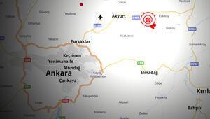 Ankara Akyurtta 3,9 büyüklüğünde deprem