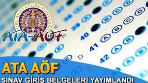ATA AÖF bütünleme sınav yerleri açıklandı - ATA AÖF bütünleme sınav giriş belgesi sorgulama